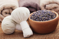 Selos da massagem da alfazema Fotografia de Stock