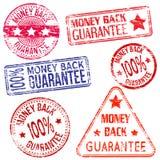 Selos da parte traseira do dinheiro Imagens de Stock