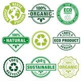 Selos da planície do tema de Eco Imagens de Stock Royalty Free