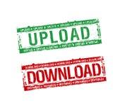 Selos da transferência de arquivo pela rede do Download Imagens de Stock Royalty Free
