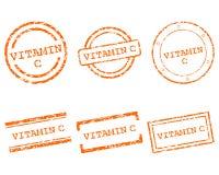 Selos da vitamina C ilustração do vetor