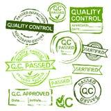 Selos de controle da qualidade ilustração do vetor