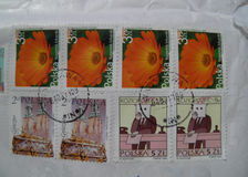 Selos de correio poloneses Fotografia de Stock Royalty Free