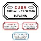 Selos de Cuba ilustração stock