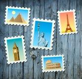 Selos de marcos famosos Imagem de Stock Royalty Free
