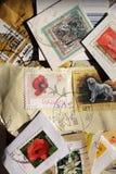 Selos de porte postal Imagens de Stock
