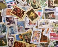 Selos de porte postal Fotografia de Stock