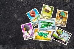 Selos de porte postal foto de stock