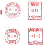 Selos de porte postal alemães Imagem de Stock Royalty Free