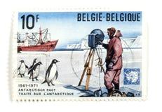 Selos de porte postal belgas Fotos de Stock Royalty Free