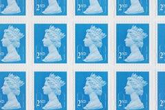 Selos de porte postal britânicos Imagens de Stock