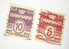 Selos de porte postal de Dinamarca Foto de Stock