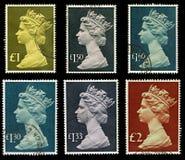 Selos de porte postal de Grâ Bretanha Fotos de Stock