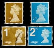 Selos de porte postal de Grâ Bretanha Imagens de Stock