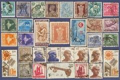 Selos de porte postal de India. Imagens de Stock