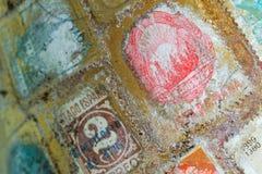 Selos de porte postal do mundo Imagem de Stock Royalty Free