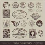 Selos de porte postal do vintage Fotografia de Stock