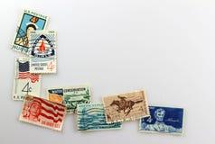 Selos de porte postal do vintage Imagens de Stock Royalty Free