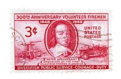 Selos de porte postal dos E.U. do vintage Imagens de Stock
