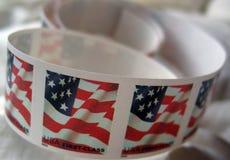 Selos de porte postal dos EUA Imagem de Stock