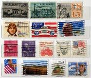 Selos de porte postal dos EUA Foto de Stock