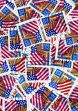 Selos de porte postal dos EUA - bandeiras Imagem de Stock Royalty Free