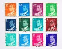 Selos de porte postal espanhóis Foto de Stock Royalty Free