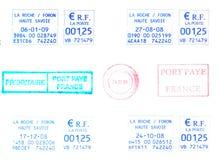 Selos de porte postal franceses fotografia de stock royalty free