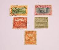 Selos de porte postal guatemaltecos Fotos de Stock Royalty Free
