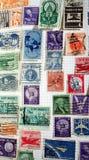 Selos de porte postal históricos dos E.U. imagem de stock royalty free