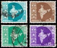 Selos de porte postal indianos Foto de Stock Royalty Free