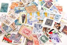 Selos de porte postal internacionais Imagens de Stock Royalty Free