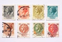 Selos de porte postal italianos Fotografia de Stock Royalty Free