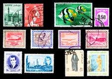 Selos de porte postal - Médio Oriente imagem de stock