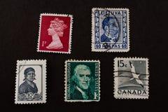 Selos de porte postal muito velhos Fotografia de Stock