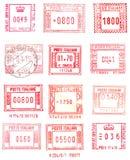 Selos de porte postal retangulares Fotografia de Stock