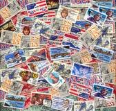 Selos de porte postal velhos do correio de ar dos E.U. Imagens de Stock Royalty Free