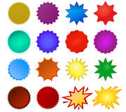 Selos de Starburst Imagens de Stock