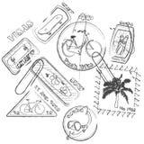 Selos de viagem Imagens de Stock Royalty Free