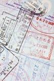 Selos de visto do passaporte dos E.U. Imagem de Stock