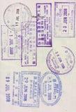 selos de visto no passaporte Imagens de Stock