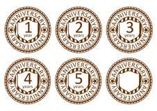 Selos do aniversário ajustados. Imagens de Stock Royalty Free