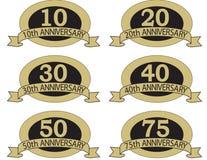 Selos do aniversário com   Imagem de Stock
