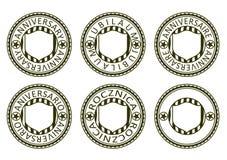 Selos do aniversário ajustados. Foto de Stock