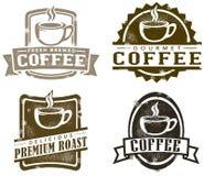Selos do café do estilo do vintage Imagem de Stock Royalty Free
