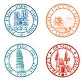 Selos do curso ajustados Fotografia de Stock Royalty Free