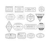 Selos do curso ajustados Vetor ilustração stock