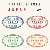 Selos do curso de Japão ilustração do vetor