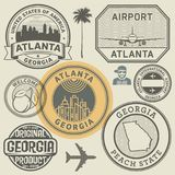 Selos do estado de Geórgia ajustados ilustração stock