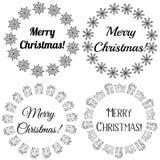 Selos do Feliz Natal, etiquetas ilustração royalty free
